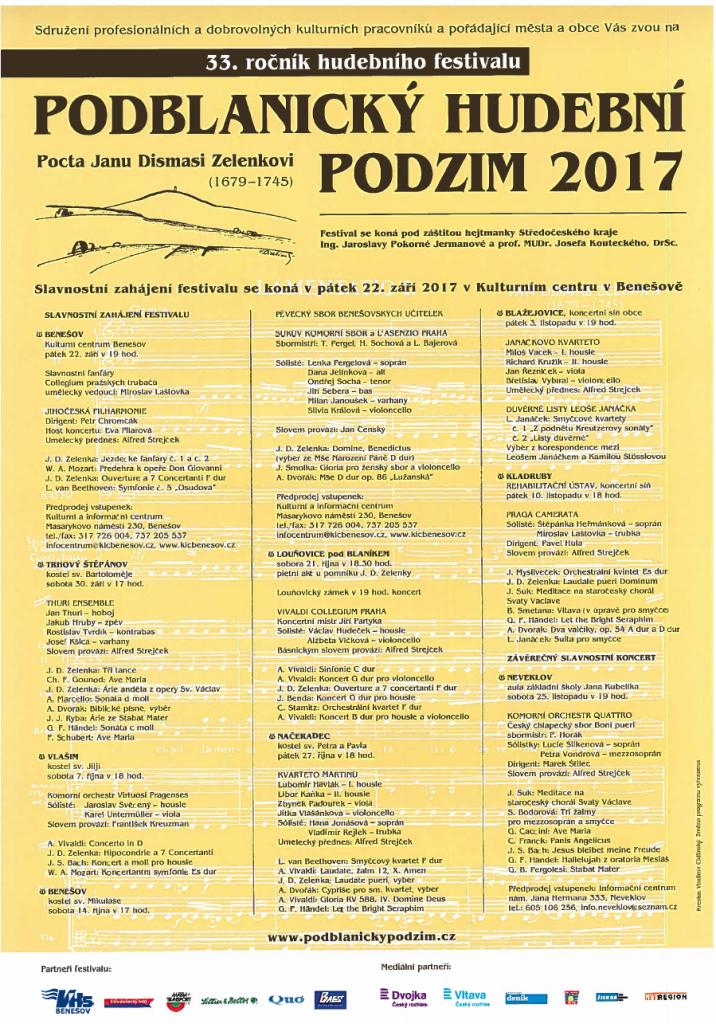Podblanický hudební podzim 2017