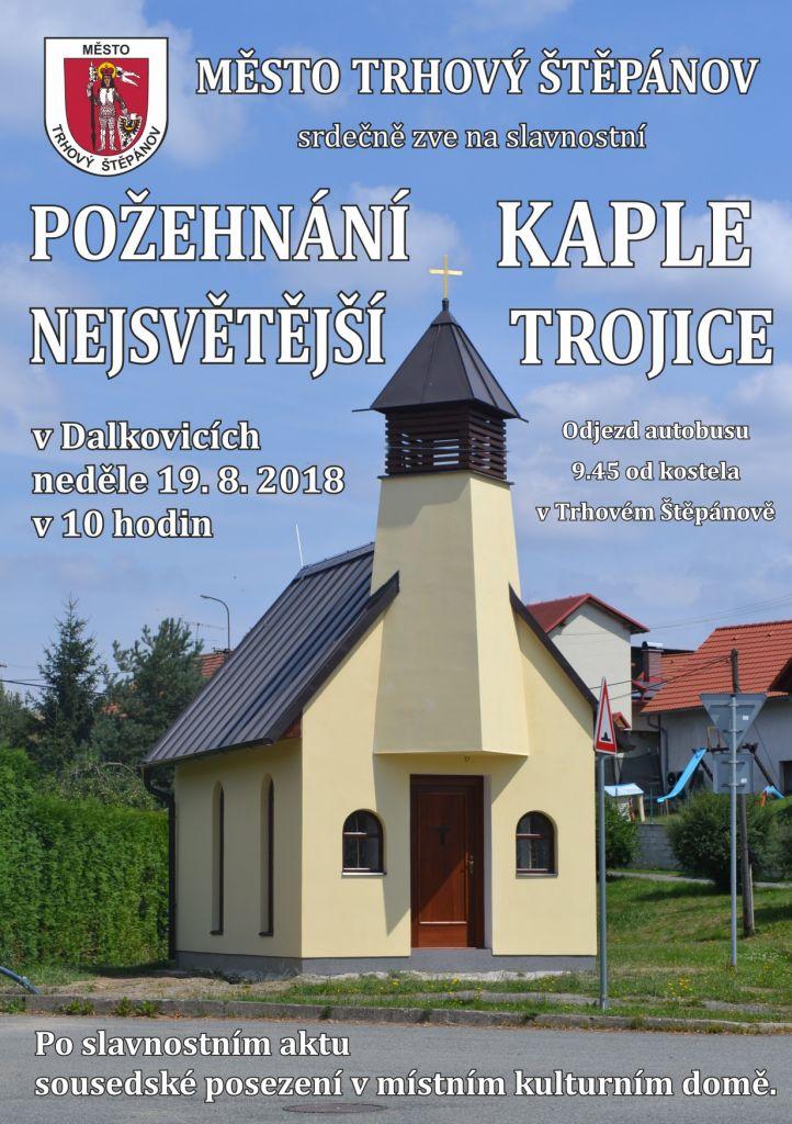 Požehnání Kaple Nejsvětější trojice v Dalkovicích 1